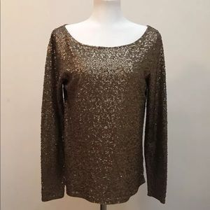 J Crew sequence long sleeves top bronze color